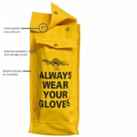Class 2 Yellow Vinyl Rubber Glove Bag c/w Pocket