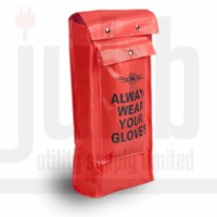 Class 4 Red Vinyl Rubber Glove Bag c/w Pocket